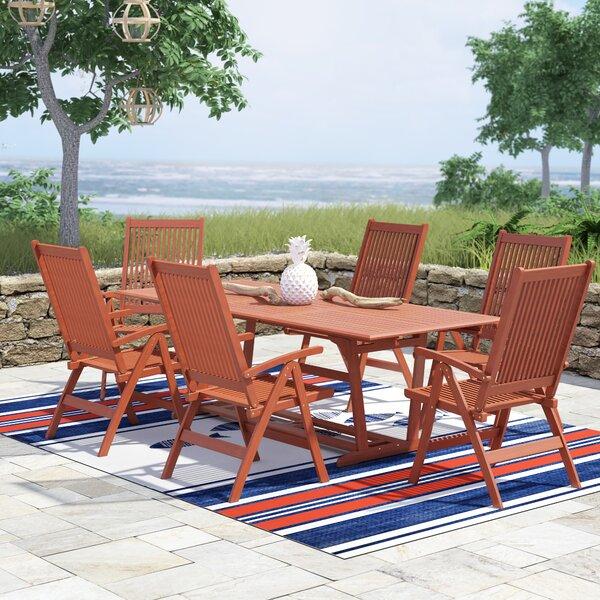 Amabel 7 Piece Indoor/Outdoor Dining Set by Beachcrest Home