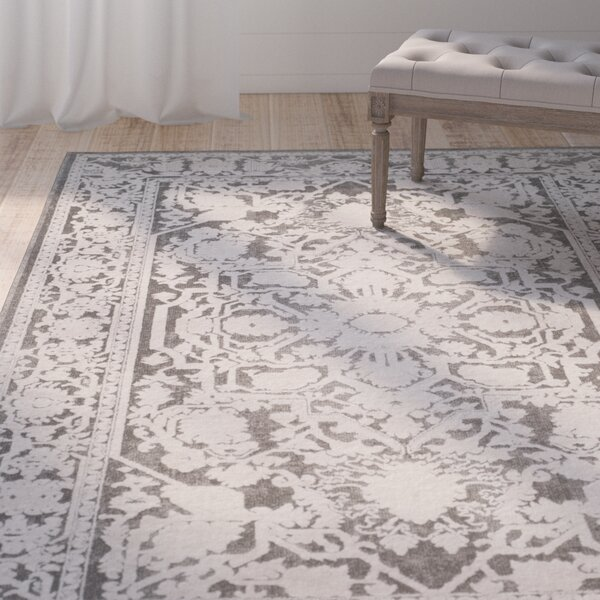 Pellot Dark Gray/Cream Area Rug by Lark Manor