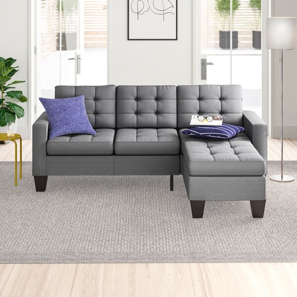 Clem Right Hand Facing Sectional Collection with Ottoman by Zipcode Design
