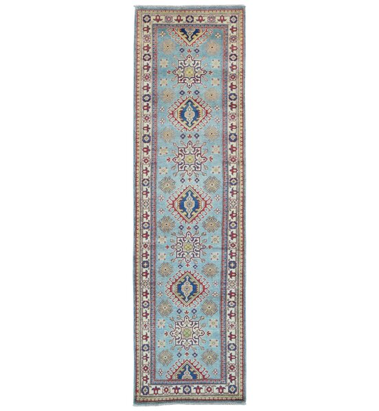 One-of-a-Kind Abbotsford Oriental Hand-Knotted Wool Blue Area Rug by Bloomsbury Market