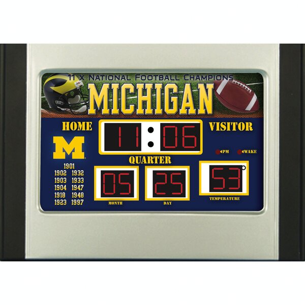 NCAA Scoreboard Desk Clock by Team Sports America