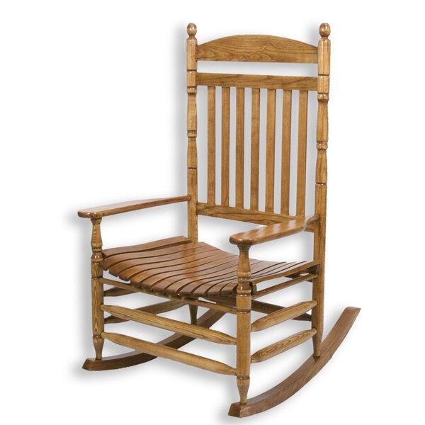 Hutchcraft Slat Rocking Chair by Alcott Hill