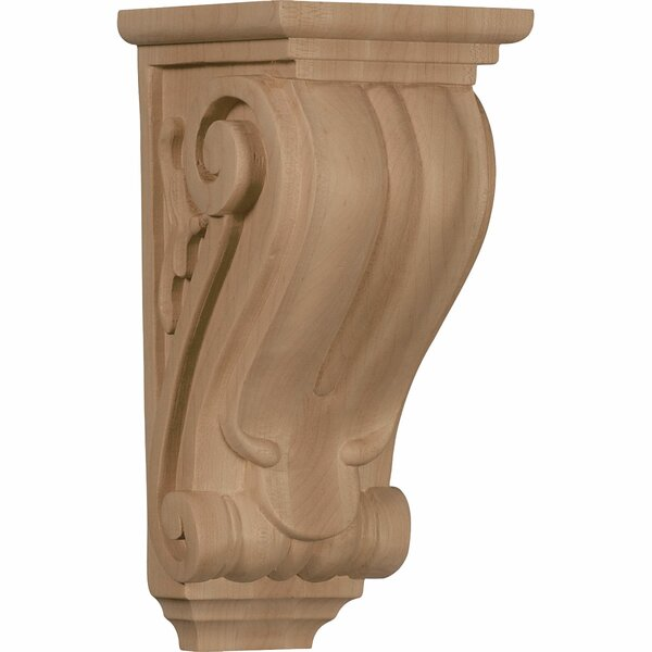 Classical 10H x 4 1/2W x 5D Medium Corbel in Red Oak by Ekena Millwork