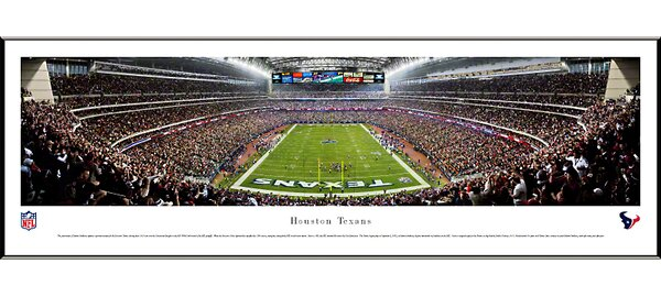 NFL End Zone Standard Framed Photographic Print by Blakeway Worldwide Panoramas, Inc