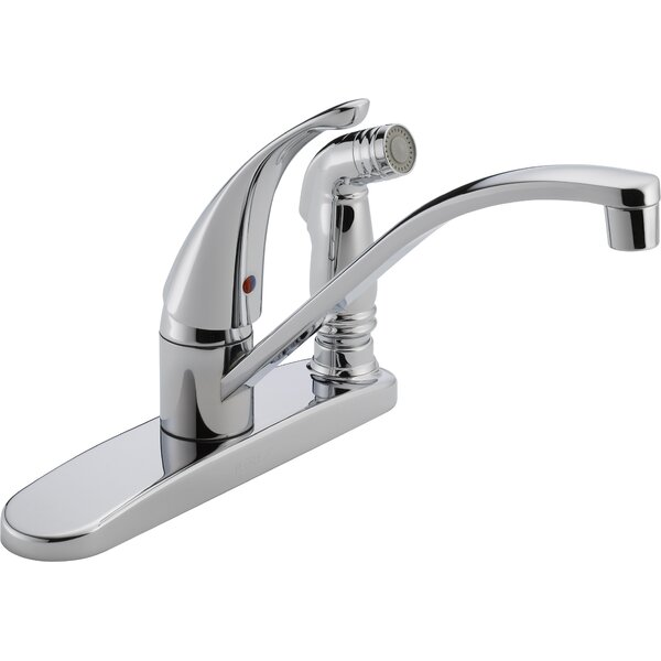 Single Handle Centerset Deck Mounted Kitchen Faucet With Side Spray By Peerless Faucets