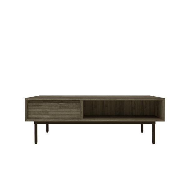 Brooks Coffee Table with Tray Top by Union Rustic