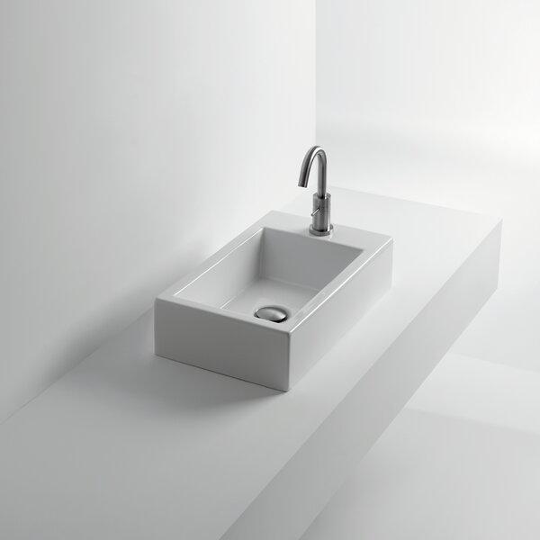 Whitestone Hox Ceramic Rectangular Vessel Bathroom Sink by WS Bath Collections