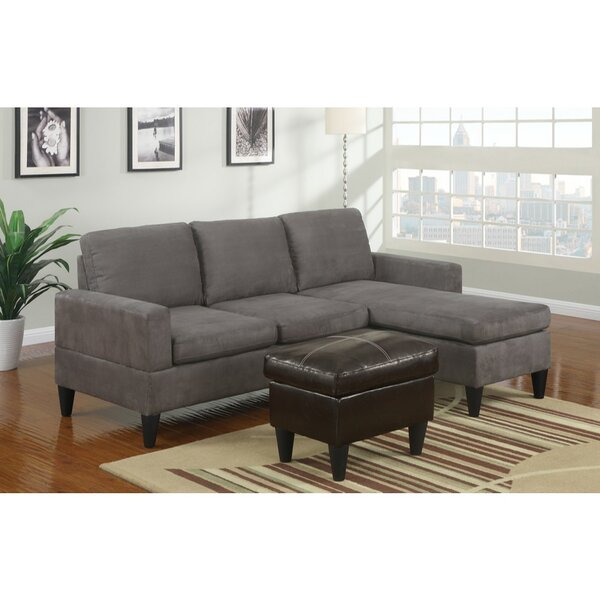 Coronado All-in-One Sectional with Ottoman by Winston Porter