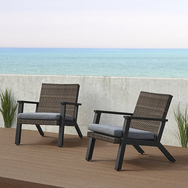Norwood Patio Chair with Cushions (Set of 2) by Real Flame Real Flame
