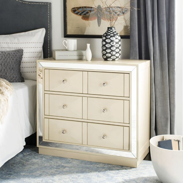Scally 3 Drawer Mirrored Drawer Chest by Everly Quinn