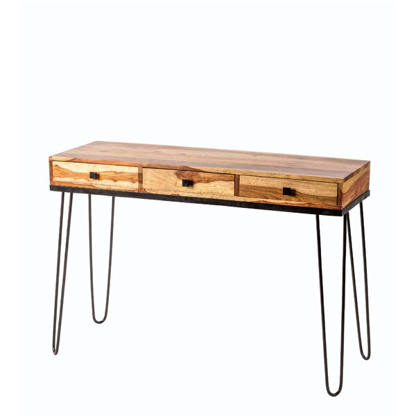 Berry 3 Drawer Console Table by Union Rustic