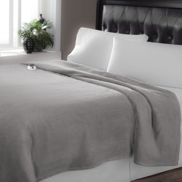 Low Voltage Technology Heated Electric Luxe Plush Warming Blanket by Soft Heat