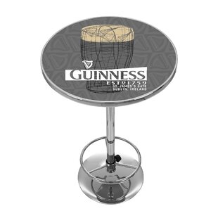 Guinness Line Art Pint Pub Table by Trademark Global