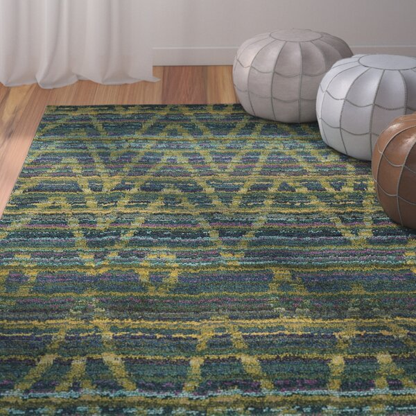 Marquis Green/Blue Area Rug by Bungalow Rose