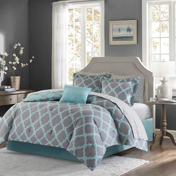 Reversible Complete Comforter and Cotton Sheet Set by Willa Arlo Interiors