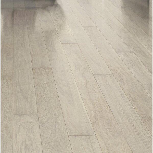 Shine 5-1/8 Engineered Oak Hardwood Flooring in Pearl by Kahrs
