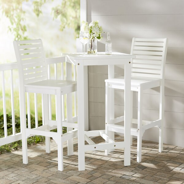 Mahler 3 Piece Bar Height Dining Set by Darby Home Co