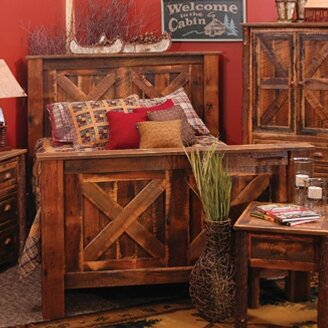 Reclaimed Barnwood Standard Bed by Fireside Lodge