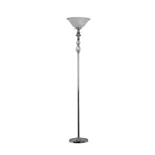 Read Reviews Bairdstown Crystal 72 Torchiere Floor Lamp By Ivy Bronx