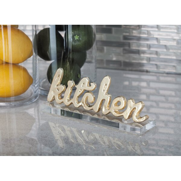 Aluminum/Acrylic Kitchen Letter Blocks (Set of 2) by Cole & Grey