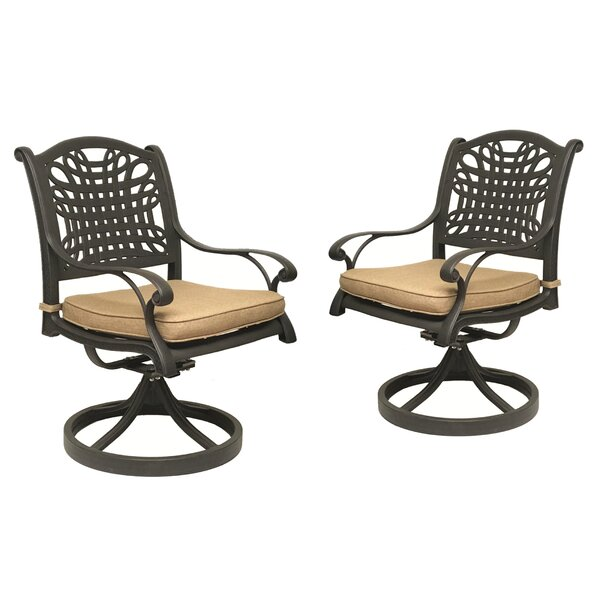 Campion Rocking Chair with Cushion (Set of 2) by Fleur De Lis Living