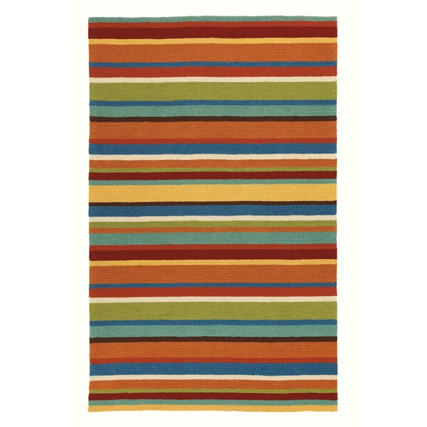 Cabana Stripe Orange Indoor/Outdoor Area Rug by CompanyC