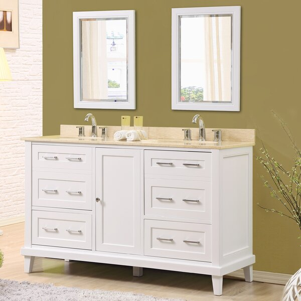 Fairlee 60 Double Bathroom Vanity Set with Mirrors by Latitude Run