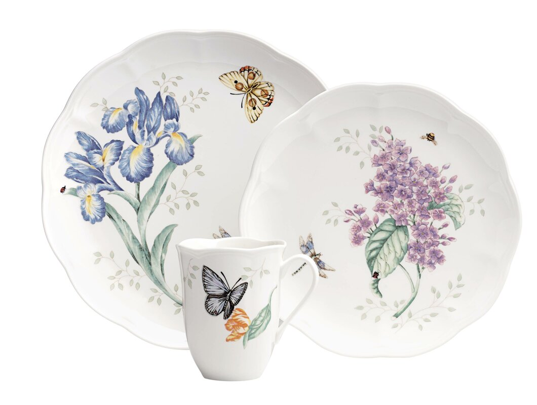 Butterfly Meadow 18 Piece Dinnerware Set, Service for 6