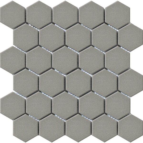 Urban 2 X 2 Porcelain Mosaic Tile In Grey Hexagon By Walkon Tile.