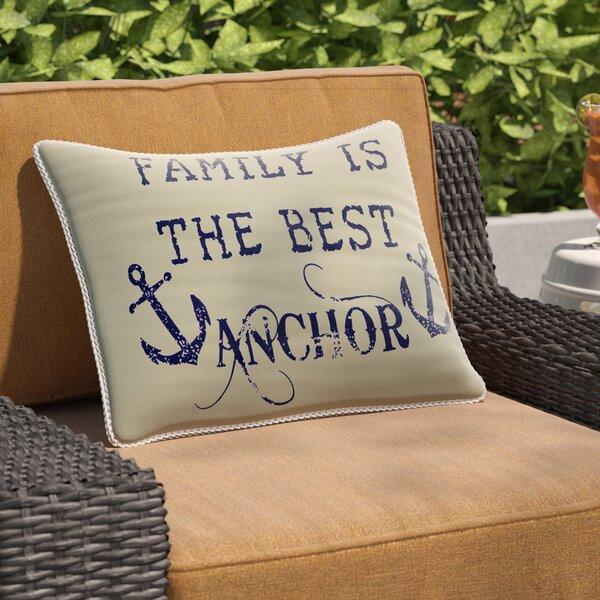 Collins Beach Family Anchor Breakfast Pillow by Breakwater Bay