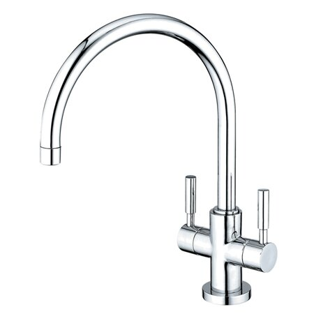 South Beach Double Handle Kitchen Faucet with Plate by Elements of Design