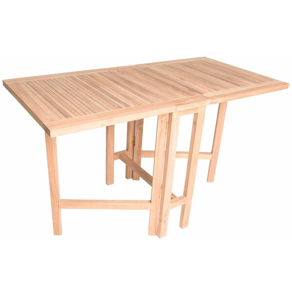 Kingston Folding Teak Dining Table by August Grove