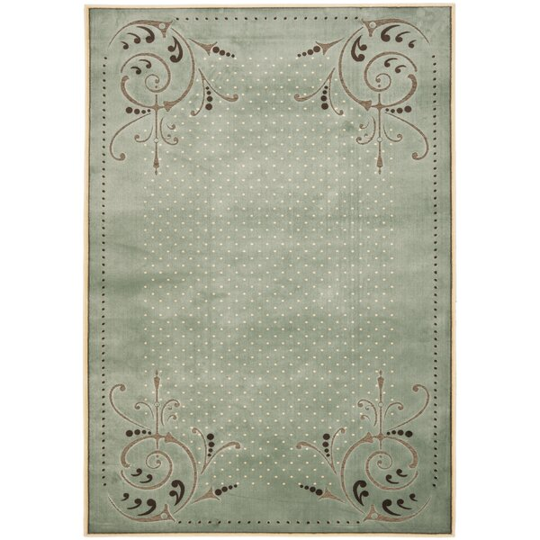 Scrollwork Hand-Loomed Blue Area Rug by Martha Stewart Rugs