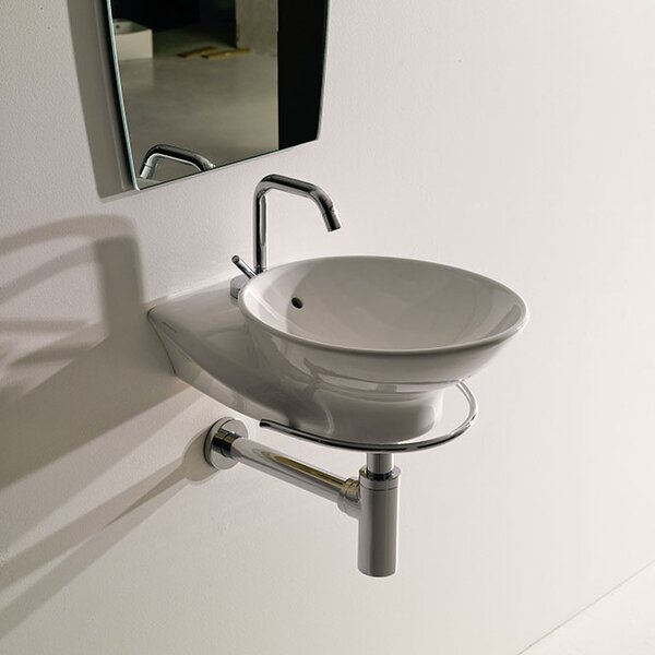Swan Ceramic Specialty Vessel Bathroom Sink with Overflow by WS Bath Collections