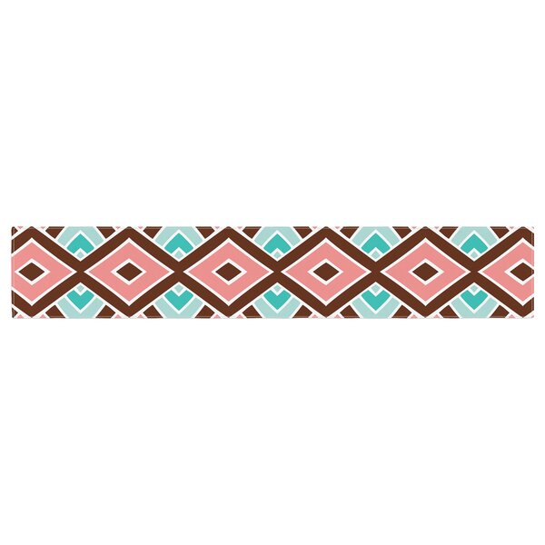 Pom Graphic Design Eclectic Peach Table Runner by East Urban Home