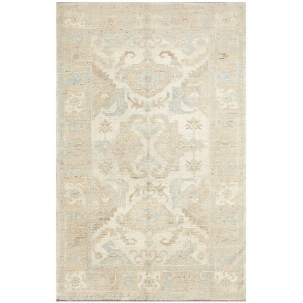 Semillon Hand-Knotted Wool Ivory Area Rug