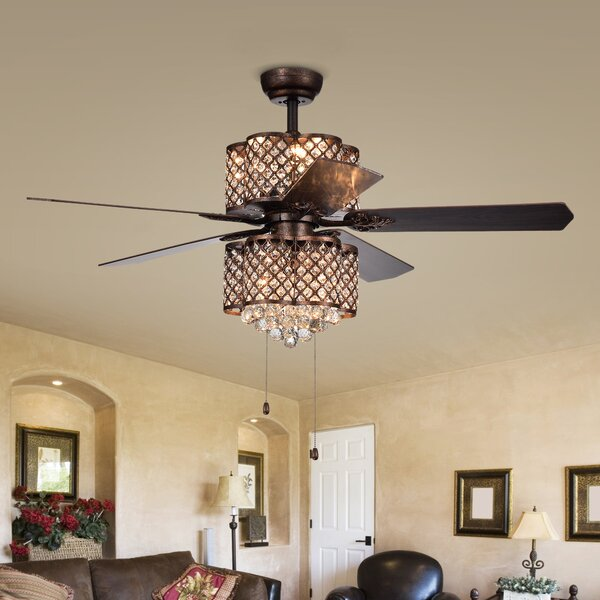52 Adne 5 Blade Ceiling Fan by House of Hampton