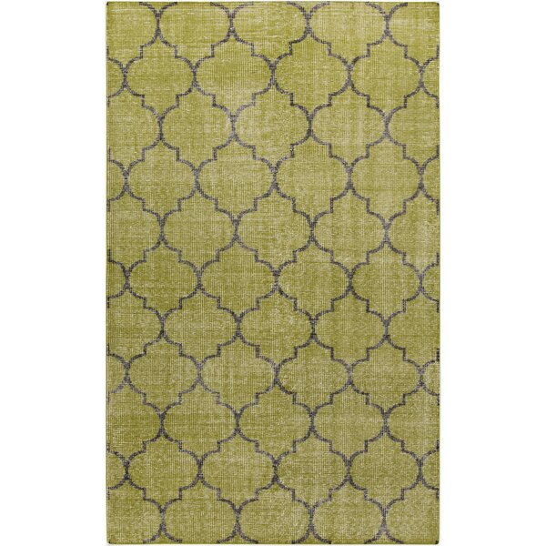Casteel Geometric Olive Area Rug by Wrought Studio