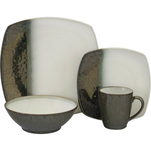 Metallics 16 Piece Dinnerware Set, Service For 4 by Sango