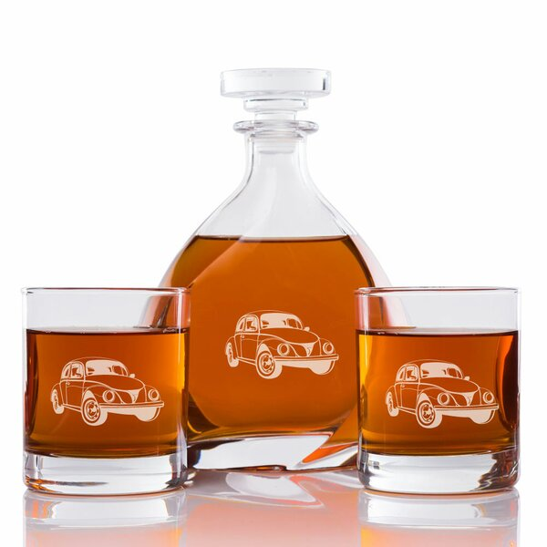 Love Bug Car Engraved 3 Piece Beverage Serving Set by East Urban Home