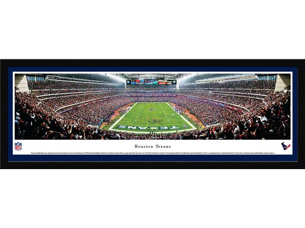 NFL Houston Texans - End Zone Framed Photographic Print by Blakeway Worldwide Panoramas, Inc