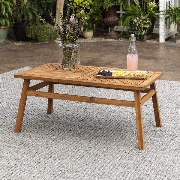 Skoog Wooden Coffee Table by Breakwater Bay