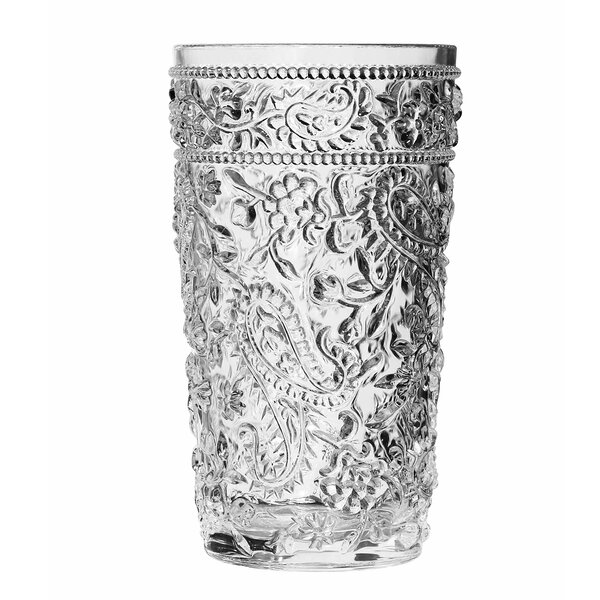 Eve Paisley 16 oz. Acrylic Drinking Glass (Set of 4) by Ophelia & Co.