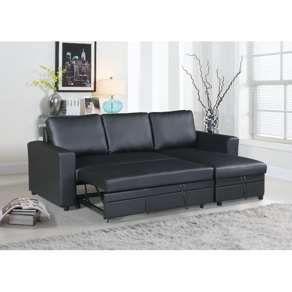 Peddie Right Hand Facing Sleeper Sectional By Ebern Designs