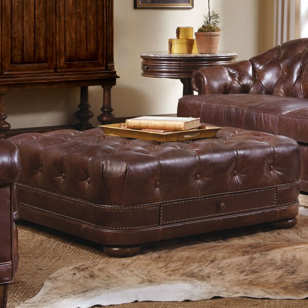 Rhonda Leather Storage Ottoman by Trent Austin Design