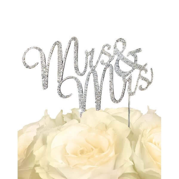 Sparkling Mrs & Mrs Cake Topper by Unik Occasions