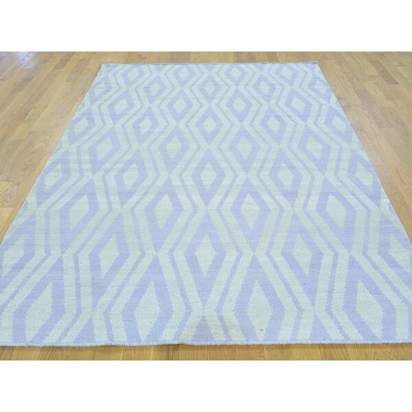 One-of-a-Kind Blakeslee Reversible Handmade Kilim Ivory Wool Area Rug by Isabelline