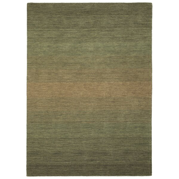 Fortune Hand Tufted Wool Green Area Rug by 17 Stories