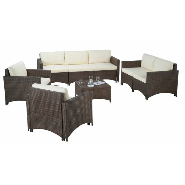 Bershire 5 Piece Sofa Seating Group with Cushions by Ebern Designs
