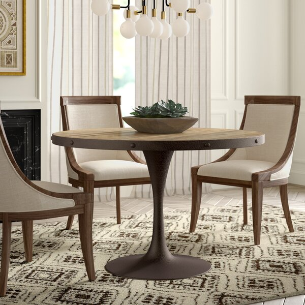 Amherst Wood Top Dining Table by Greyleigh